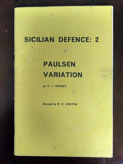 Image for Sicilian defence, 2: Paulsen variation