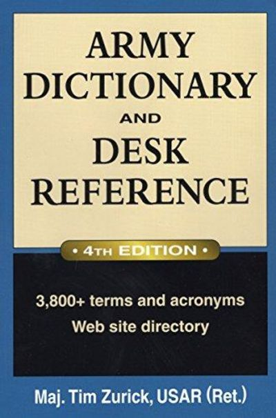 Image for Army Dictionary And Desk Reference (Army Dictionary & Desk Reference)
