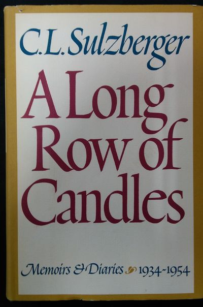Image for A Long Row of Candles Memoirs and Diaries (1934-1954)