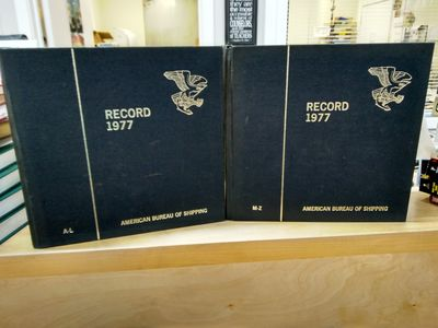 Image for RECORD of the American Bureau of Shipping 1977 - Vol. 1 A-L + Vol. 2 M-Z  [Set of 2 Volumes]