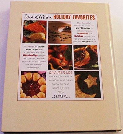 Image for The Food  Wine Holiday Cookbook