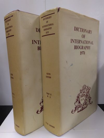 Image for Dictionary of International Biography 1970 ( 2 volume set)