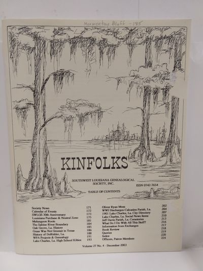 Image for Kinfolks Volume 27 No 4 December 2003