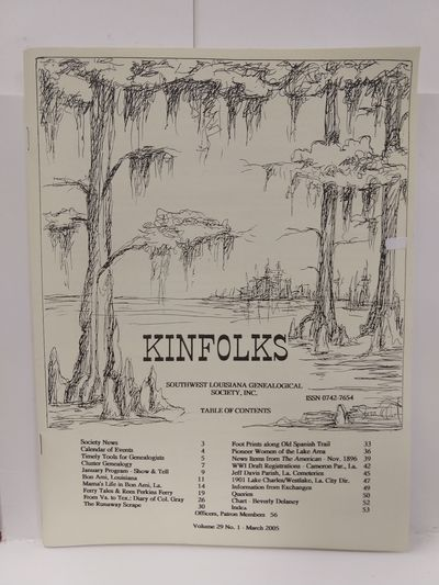 Image for Kinfolks Volume 29 No 1  March 2005