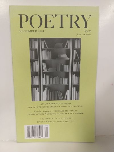 Image for Poetry Magazine Volume 184 No 5 September 2004