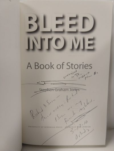 Image for Bleed Into Me: A Book Of Stories (Native Storiers: A  Series Of American Narratives) (Signed)