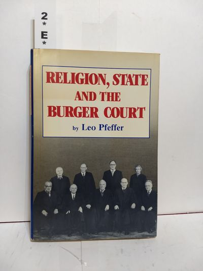 Image for Religion, State and the Burger Court