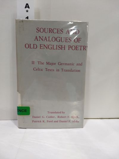 Image for Sources and Analogues of Old English Poetry (Vol 2)
