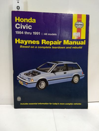 Image for Honda Civic 1984 Thru 1991: All Models (haynes Manuals)